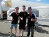 Marco mit den Instruktoren Luca Grünwald (li) und Dario Giusepetti